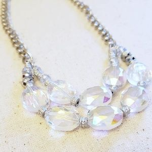 Jewelry - Chunky Aurora Borealis Crystal Necklace